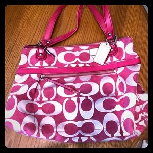 Pink and Silver Coach Purse